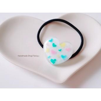 Heart in Heartヘアゴム(ホワイト)