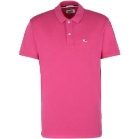 《セール開催中》TOMMY JEANS メンズ ポロシャツ フューシャ XS コットン 98% / ポリウレタン 2%