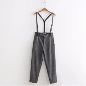 ファッション気質チェックサロペット オールインワン チェック柄パンツ