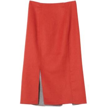 NINE リバータイトスカート ミモレ丈・ひざ下丈スカート,オレンジ