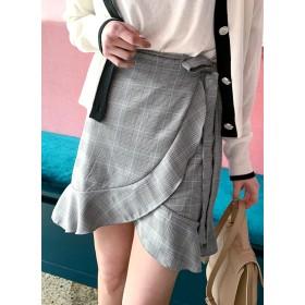 チェックフレアラップスカート・全3色・t52222