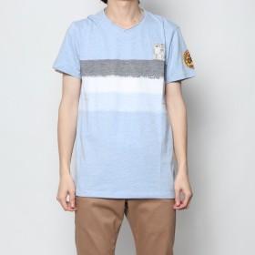 デシグアル Desigual Tシャツショート袖 (ブルー)