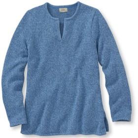 マール・コットン・セーター、スプリットネック・プルオーバー/Marled Cotton Sweater Split-Neck Pullover