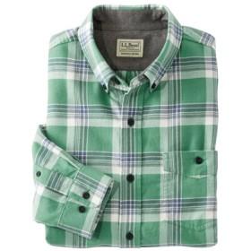 レイクウォッシュ・フランネル・シャツ、長袖 プラッド スライトリー・フィット/Lakewashed Flannel Shirt Long-Sleeve Plaid Slightly Fitted