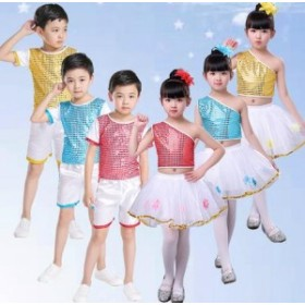 2点送料無料 女の子 ワンピース 男の子 子供 演出服 キッズ ダンス衣装 学園祭文化祭 ダンス衣装