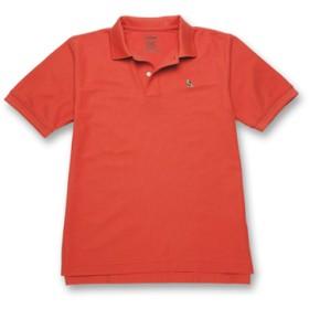 ジャパン・フィット エンブロイダー・ダブル・エル・ポロシャツ、半袖 タン/ブラウンの刺繍入り/Japan Fit Embroidered Double L Polo Shirt Short-Sleeve