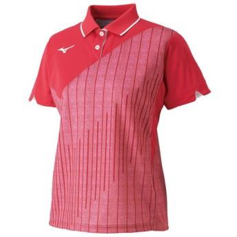 MIZUNO SHOP [ミズノ公式オンラインショップ] ゲームシャツ(ラケットスポーツ)[レディース] 63 バーチャルピンク 62JA9212