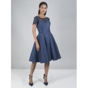 CHI CHI LILO DRESS チチロンドン ワンピース ネイビー ミディドレス