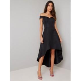 CHI CHI NATALIA DRESS チチロンドン ワンピース ブラック ミディドレス