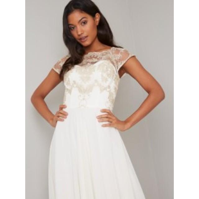 CHI CHI ADALIE DRESS チチロンドン ワンピース クリーム ドレス