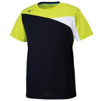 MIZUNO SHOP [ミズノ公式オンラインショップ] Tシャツ[ユニセックス] 37 ライムグリーン×ブラック 32MA9120