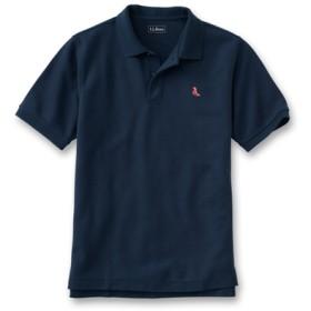 ジャパン・フィット エンブロイダー・ダブル・エル・ポロシャツ、半袖 赤の刺繍入り/Japan Fit Embroidered Double L Polo Shirt Short-Sleeve