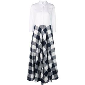 Sara Roka コントラスト ドレス - ホワイト