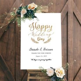 Happy Wedding Day ウェルカムボード 結婚式