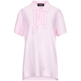 《期間限定セール開催中!》DSQUARED2 レディース ポロシャツ ピンク M コットン 100%