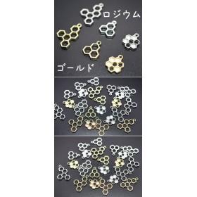 M162_R 30個 レジン枠 空枠 アソートセット ハチの巣 チャーム UVレジン (計30個)