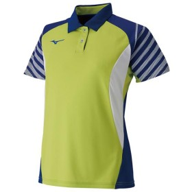 MIZUNO SHOP [ミズノ公式オンラインショップ] ゲームシャツ(ラケットスポーツ)[レディース] 84 ライムグリーン 62JA9214