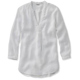 ジャパン・フィット プレミアム・ウォッシャブル・リネン・シャツ、スプリット・チュニック 長袖/Japan Fit Premium Washable Linen Shirt Splitneck Tunic Long-Sleeve