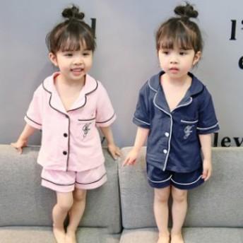 子どもパジャマ 女の子 子供パジャマ 半袖 夏用 上下セット ハーフパンツ 可愛い キルト 寝間着 ルームウェア 部屋着