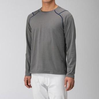 MIZUNO SHOP [ミズノ公式オンラインショップ] ドライベクター長袖クルーネックシャツ[メンズ] 05 グレー B2MA9025