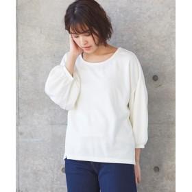 ボリューム袖トップス (Tシャツ・カットソー)(レディース)T-shirts
