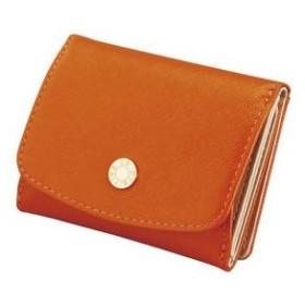 Le Prairies ビジュー三つ折BOX札入 オレンジ NPL1385