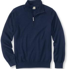 コットン/カシミヤ・セーター、クォーター・ジップ/Cotton/Cashmere Sweater Quarter-Zip