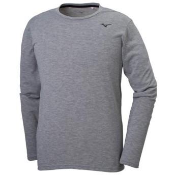 MIZUNO SHOP [ミズノ公式オンラインショップ] ロングスリーブTシャツ[メンズ] 05 グレー杢 32MA9053