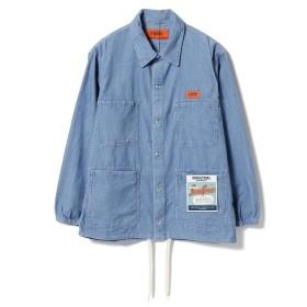 UNIVERSAL OVERALL × BEAMS / 別注 コーデュロイ カバーオールジャケット メンズ ブルゾン BLUE S