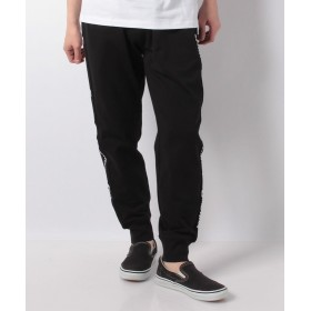 【49%OFF】 ジョルダーノ [GM]サイドロゴジョガーパンツ メンズ ブラック M 【GIORDANO】 【セール開催中】