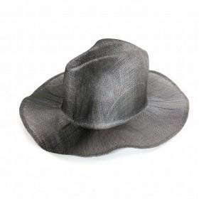 レナードプランク REINHARD PLANK 中折れ ワイドブリム ストローハット 麦わら帽子 LAILA OPEN SIS グレー SIZE 11 L 6589971044 col.904 メンズ【中古】