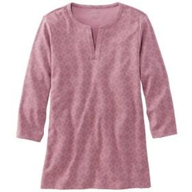 エル・エル・ビーン・ティ、7分丈袖 スプリットネック・チュニック プリント/Women's L.L.Bean Tee Three-Quarter-Sleeve Splitneck Tunic Print