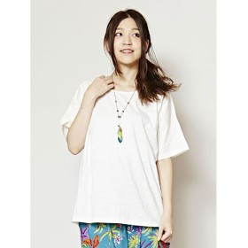 【チャイハネ】yul 無地スラブプレーンTシャツ ホワイト