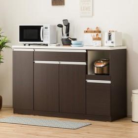 キッチンカウンター(レジューム 150TH-R DBR) ニトリ 『配送員設置』 『5年保証』