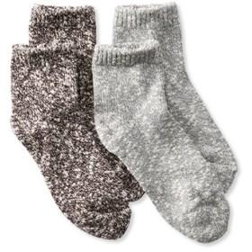 レディース・コットン・ラグ・ソックス、クォーター・クルー 2足セット/Women's Cotton Ragg Socks Quarter-Crew Two-Pack