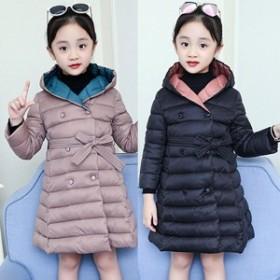 子供服コート 女の子 中綿ジャケット キルティング 韓国子供 防寒 ジャケット アウター 女児 ファーコート 暖かい かわいい キッズ