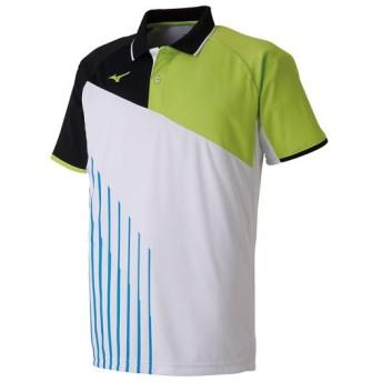 MIZUNO SHOP [ミズノ公式オンラインショップ] ゲームシャツ(ラケットスポーツ)[ユニセックス] 73 ホワイト 62JA9003