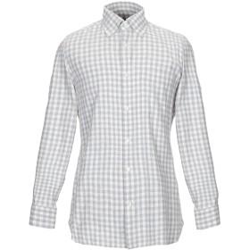 《セール開催中》GIAMPAOLO メンズ シャツ ライトグレー 39 コットン 100%