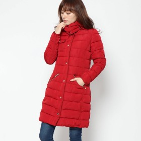 デシグアル Desigual WOMAN WOVEN PADDED LONG OVERCOAT (Pink/Red)