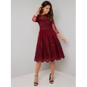CHI CHI ROSALITA DRESS チチロンドン ワンピース バーガンディー ドレス