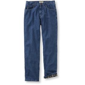 メンズ・ダブル・エル・ジーンズ、ナチュラル・フィット フランネルの裏地付き/Men's Double L Jeans Natural-Fit Flannel-Lined