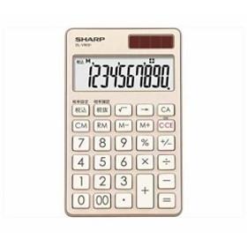 電卓 手帳タイプ 高級感のある鏡面アルミパネル採用 シャンパンゴールド系[EL-VW31-NX](シャンパンゴールド)