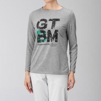 MIZUNO SHOP [ミズノ公式オンラインショップ] フィーリンテックグラフィック長袖Tシャツ[レディース] 05 グレーメランジ B2MA9257