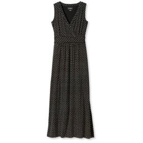 サマー・ニット・マキシ・ドレス、スリーブレス ビーチ・ペブル・プリント/Summer Knit Maxi Dress Sleeveless Beach Pebbles Print