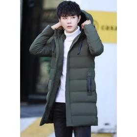 メンズ フード付き  綿コート 厚手  冬 軽量 防寒  防風  学生 ジュニア
