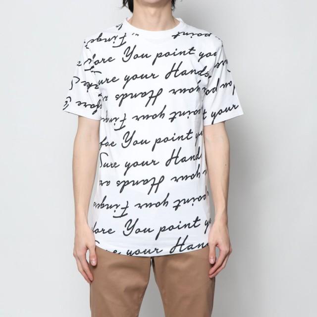 スタイルブロック STYLEBLOCK レタープリントビックシルエット半袖Tシャツ (ホワイト)