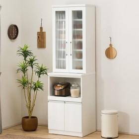 食器棚(レジューム 60TG-H WH/60TH WH) ニトリ 『配送員設置』 『5年保証』