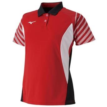 MIZUNO SHOP [ミズノ公式オンラインショップ] ゲームシャツ(ラケットスポーツ)[レディース] 62 チャイニーズレッド 62JA9214
