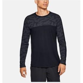 (セール)UNDER ARMOUR(アンダーアーマー)メンズスポーツウェア 長袖ベーシックTシャツ 19S UA THREADBORNE ELITE LS 1328709 001 メンズ BLK/BLK(001)