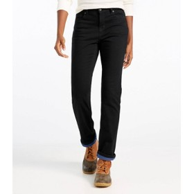 トゥルー・シェイプ・ジーンズ、ストレート・レッグ 裏地付き/True Shape Jeans Straight-Leg Lined